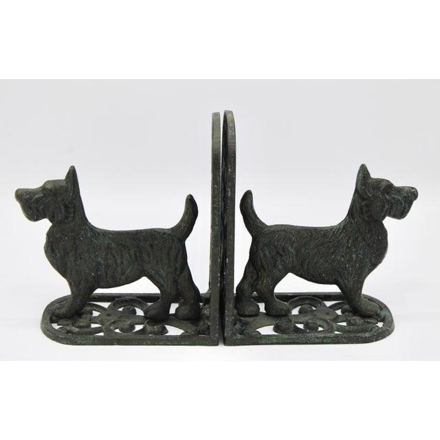 Charcoal Vintage West Highland Terrier Dog Bookends For Sale - Image 8 of 10