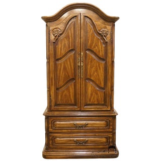 Bernhardt Hibritten Country French Regency Style Clothing Armoire For Sale