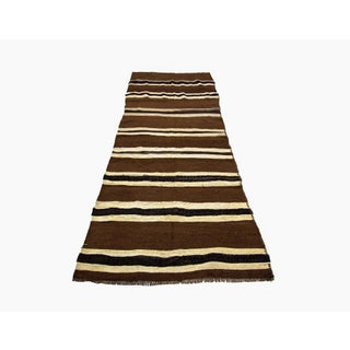 "Vintage Striped Brown Runner Rug-3'6x8'10"" Preview"