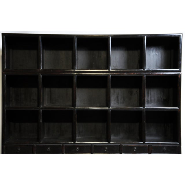 2010s Impressive Chinese Display Cabinet With Twelve Drawers For Sale - Image 5 of 13