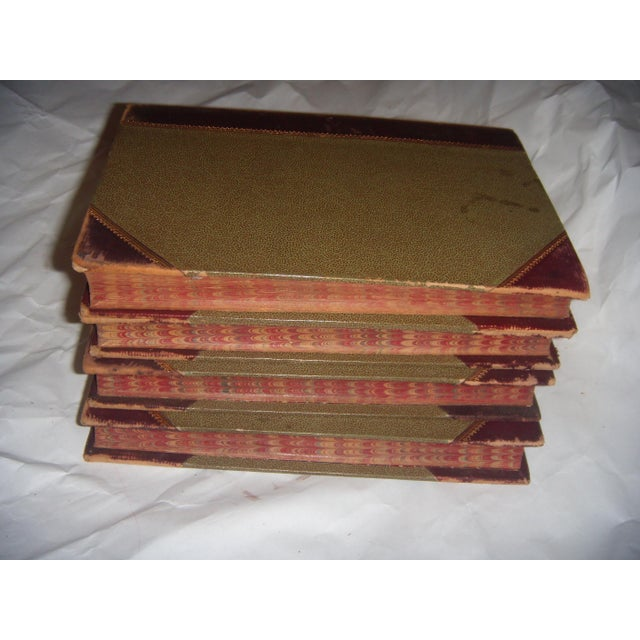 4 Old Leather Bound Books Works of Schiller in German - Image 5 of 6