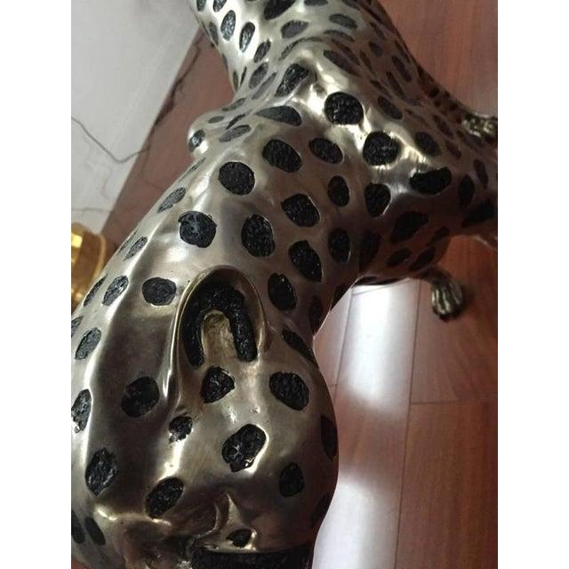 Cheetah Metal Sculpture For Sale - Image 9 of 9