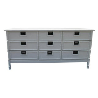 Thomasville Hollywood Regency Faux Bamboo 6 Drawer Dresser