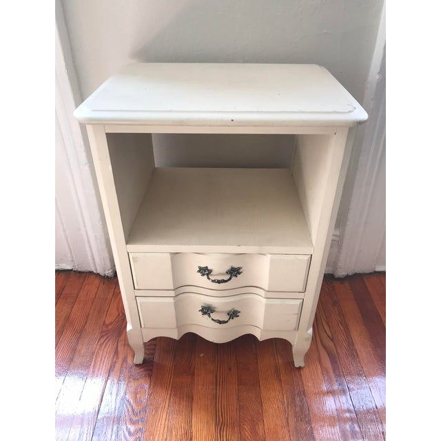 1960s Vintage French Inspired Distressed Nightstand For Sale In New York - Image 6 of 6