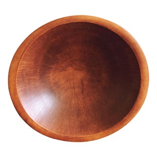 Vintage Organic Modern Wooden Bowl For Sale