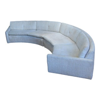 Curved 'Floating' Sofa With Lucite Base by Milo Baughman For Sale