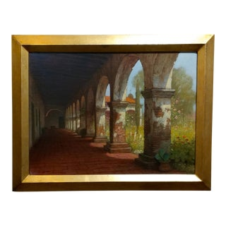 Mission Capistrano Impressionist California Oil Painting For Sale