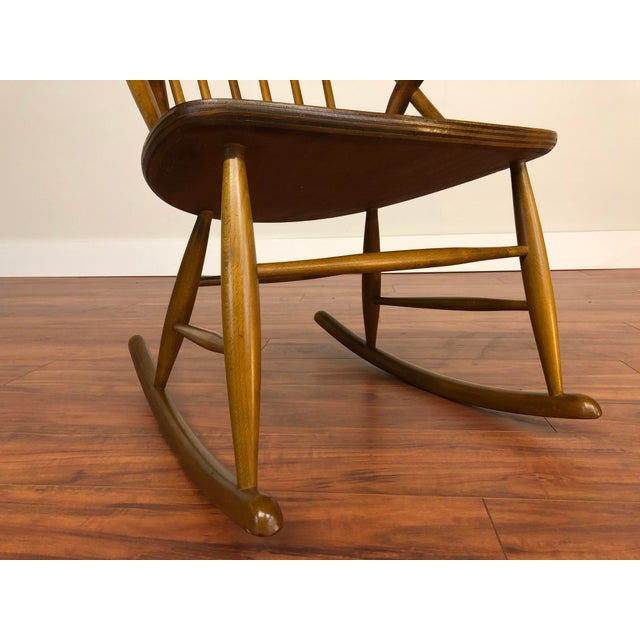 Illum Wikkelso for Niels Eilersen Gyngestol Rocking Chair For Sale - Image 9 of 13