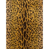 Image of Scalamandre Leopardo Ivory Gold & Black Fabric For Sale
