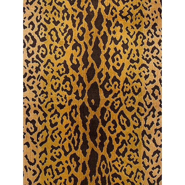 Scalamandre Leopardo Ivory Gold & Black Fabric For Sale