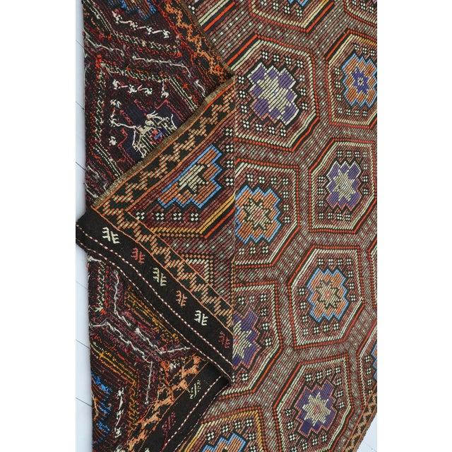 "Vintage Turkish Kilim Rug-7'6'x9'6"" For Sale - Image 12 of 13"