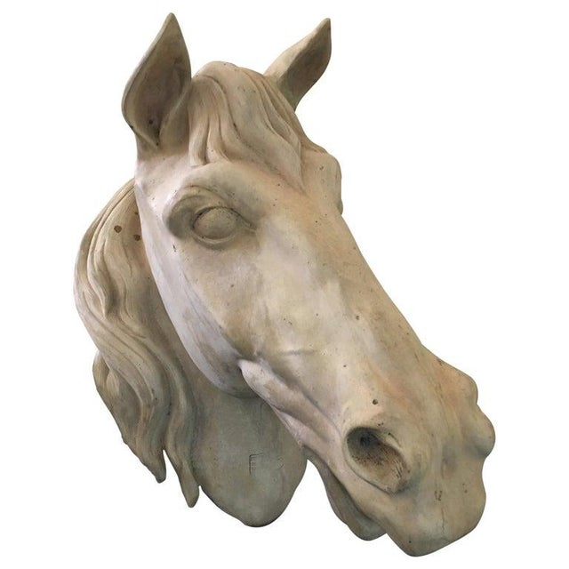French Terracota Horse Head, 20th Century For Sale - Image 11 of 11