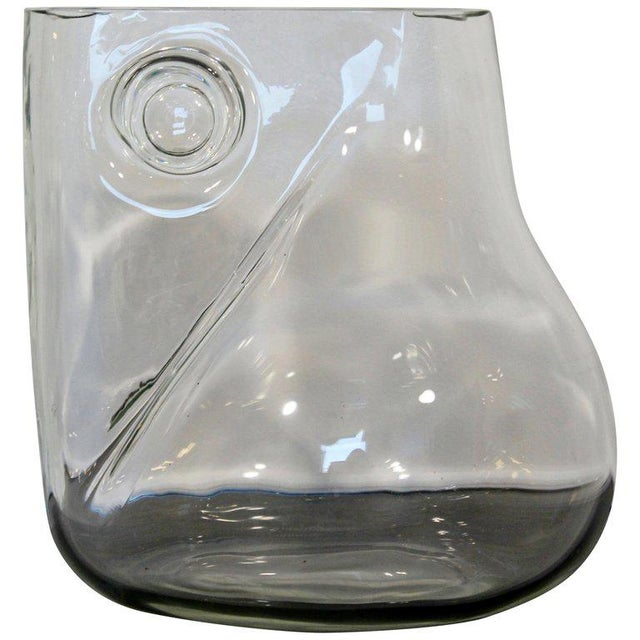 Mid-Century Modern Signed Alfredo Barbini Murano Glass Art Vase Pitcher, Italy For Sale - Image 11 of 11