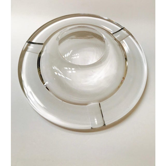 Swedish Mid-Century Modern Crystal Ashtray by Lindstrand for Kosta Boda, 1960's For Sale - Image 11 of 13