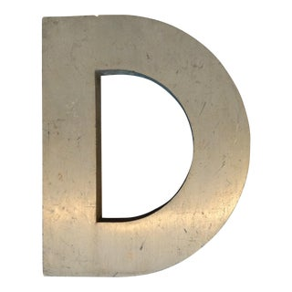 Early 20th Century Rustic Metal Letter D