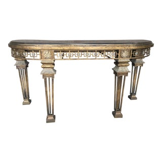 Neoclassical Style Console Table For Sale