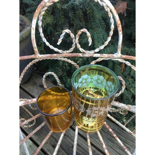 Vintage Golden Drinking/Shot Glasses - a Pair Preview