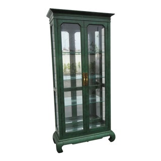 Hollywood Regency Painted China Display Cabinet by American of Martinsville 1279 For Sale