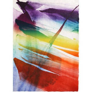 Phenomena Franklin's Kite, Abstract Lithograph by Paul Jenkins For Sale