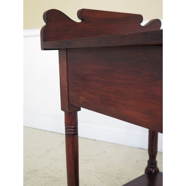 Traditional Antique Century Sheraton Style 1 Drawer Work Table Washstand For Sale - Image 3 of 13