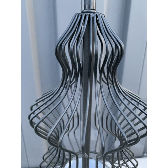 Contemporary Black Wire Chandelier For Sale - Image 4 of 5