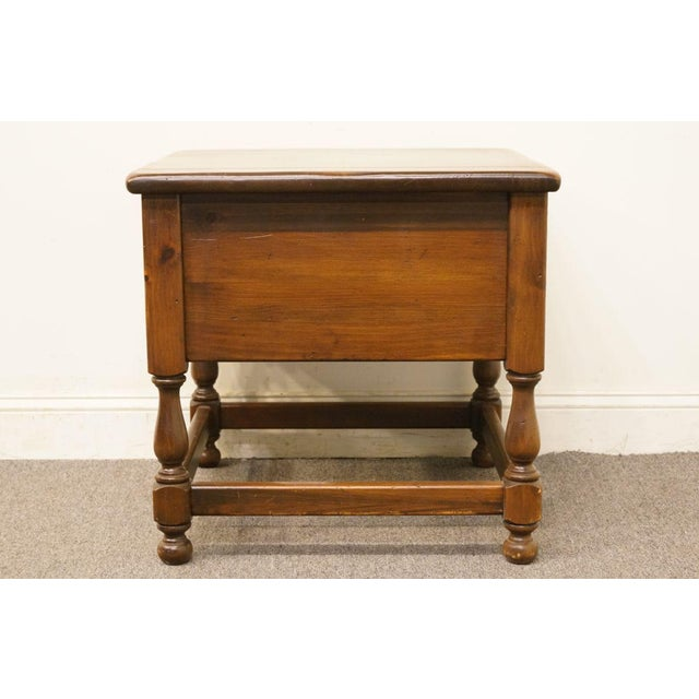 Late 20th Century Vintage Ethan Allen Pine Nightstand For Sale - Image 9 of 13