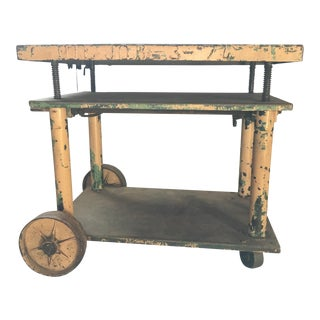 1920's Industrial Crank Table For Sale