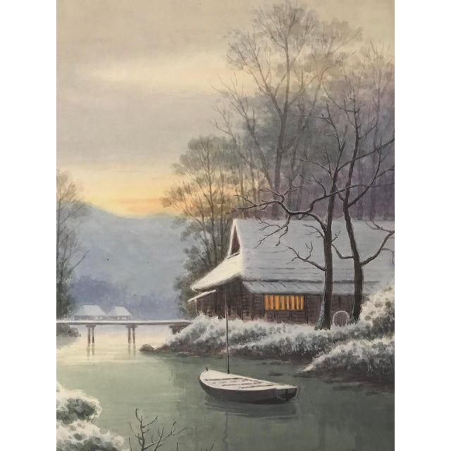 Japanese Landscape Watercolor Painting - Image 3 of 9
