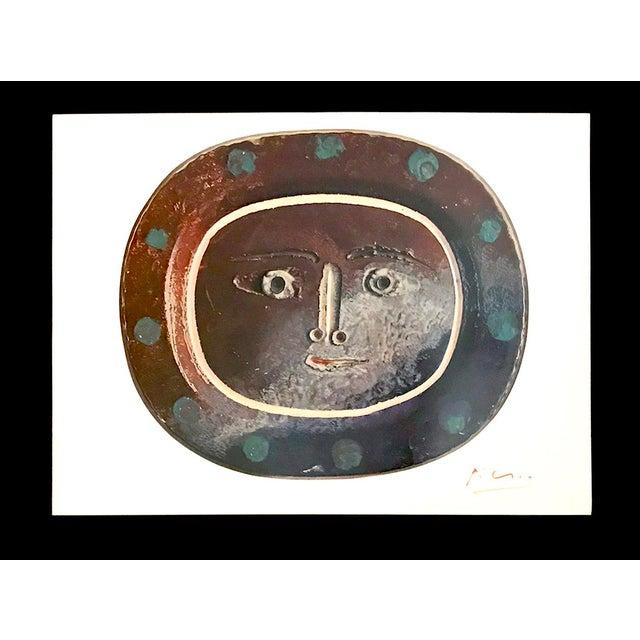 "Pablo Picasso 1940s Vintage Pablo Picasso Signed ""Ceramiques"" Print For Sale - Image 4 of 4"