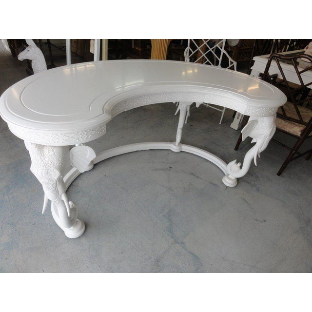 Gampel Stoll Fretwork Elephant Desk For Sale - Image 12 of 13