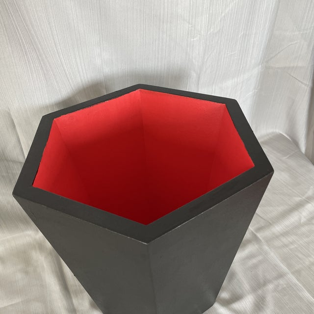 A lovely addition to any decor. Solidly yet stylishly constructed this handmade and hand painted wastebasket is perfect...