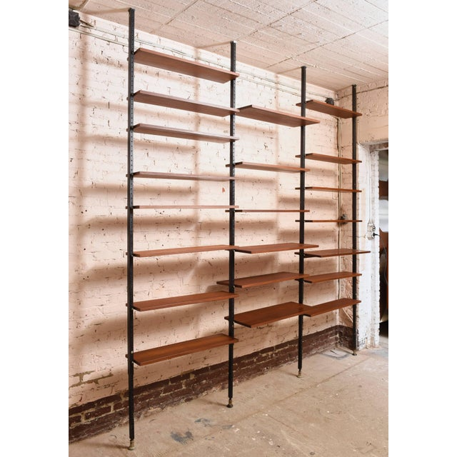 Brown Danisch Modular Bookcase Royal System Wall Unit For Sale - Image 8 of 9