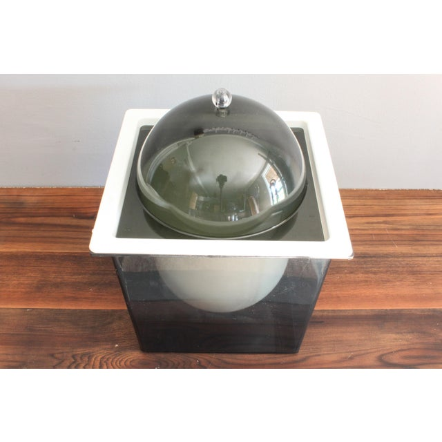1960s 1960s Atomic Mid Century Modern Smoked Plexi 3-Piece Ice Bucket For Sale - Image 5 of 8