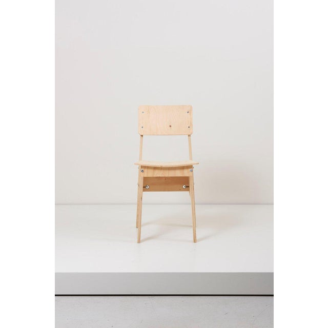 Plywood 1 of 3 Crisis Chairs by Piet Hein Eek in Plywood For Sale - Image 7 of 13
