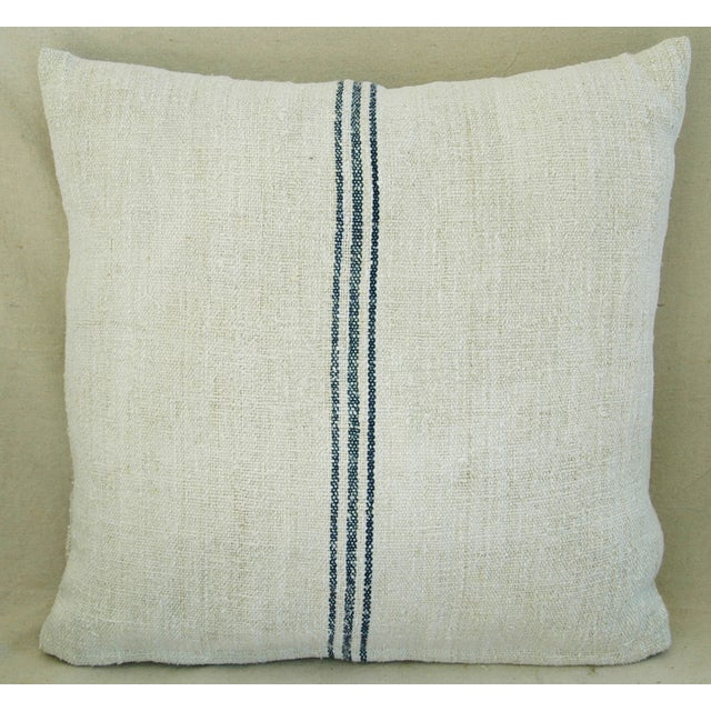 Custom French Grain Sack Down/Feather Pillow - Image 3 of 7
