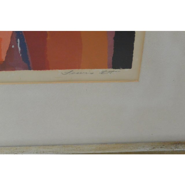 Vintage Abstract Serigraph For Sale - Image 5 of 6