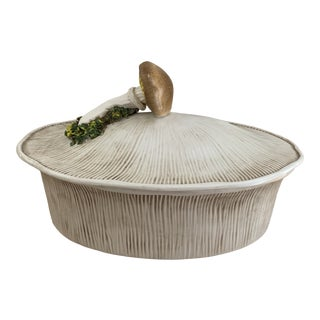 Vintage Italian Trompe L'oeil Mushroom Tureen For Sale