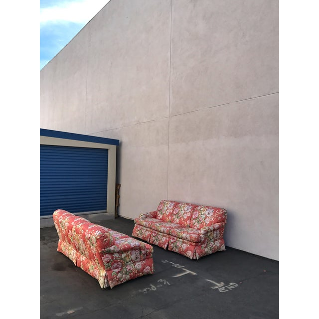 Fabric Vintage Floral Morris James Sofas - A Pair For Sale - Image 7 of 11