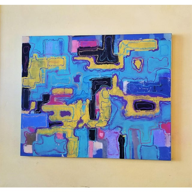 Late 20th Century R. Schnider Electric Abstract Microchip Painting For Sale - Image 5 of 6