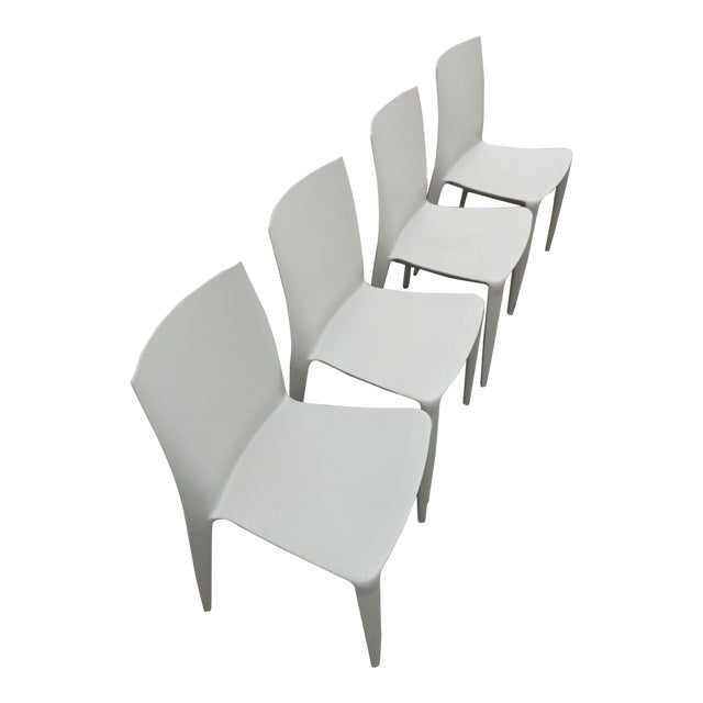 design within reach heller bellini light grey chairs set of 4