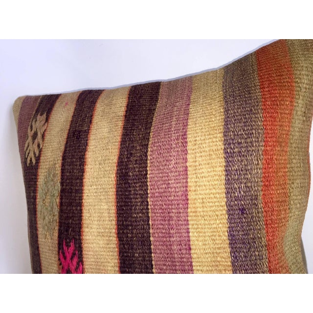 Turkish Handmade Kilim Pillow Cover For Sale - Image 4 of 5