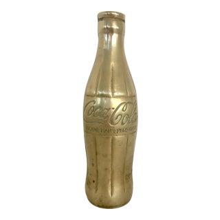 Vintage Brass Coca Cola Bottle / Vase