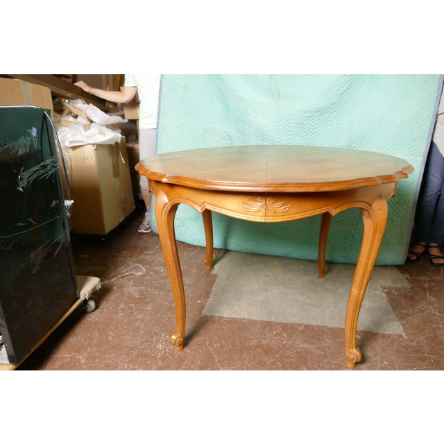 French Cherry Draw-Leaf Table - Image 6 of 6