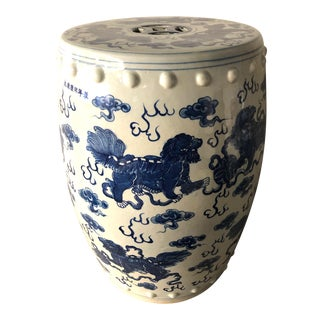 Antique Chinese Flying Dragon Porcelain Garden Stool For Sale