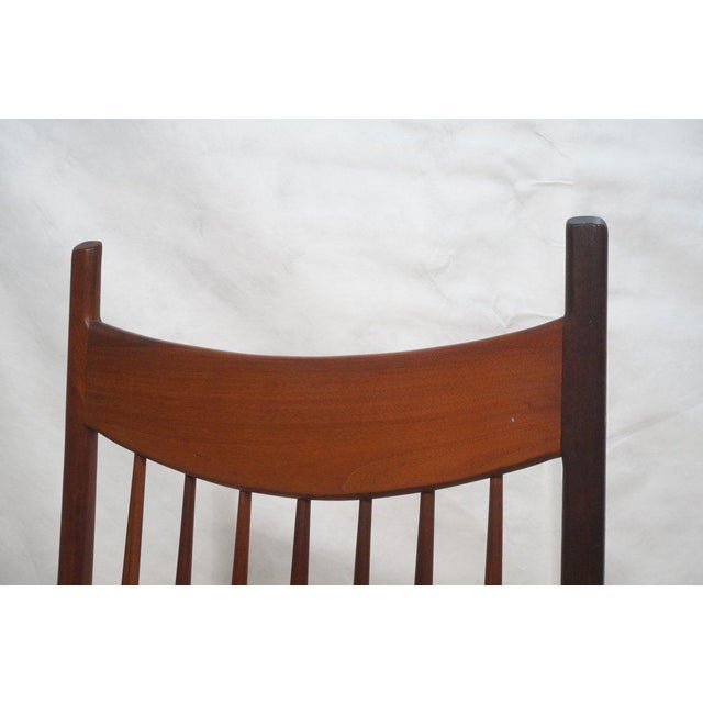 Tall Oversized American Craftsman Rocking Chair - Image 7 of 10