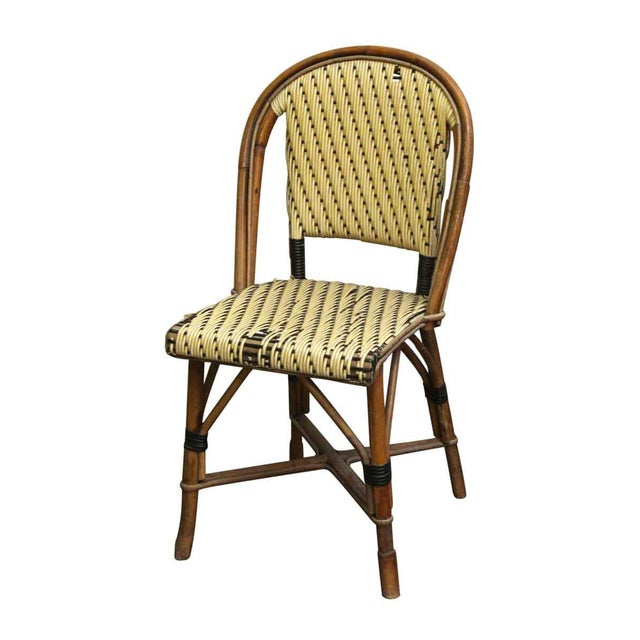 Wicker Wicker & Wood Frame Chair For Sale - Image 7 of 7