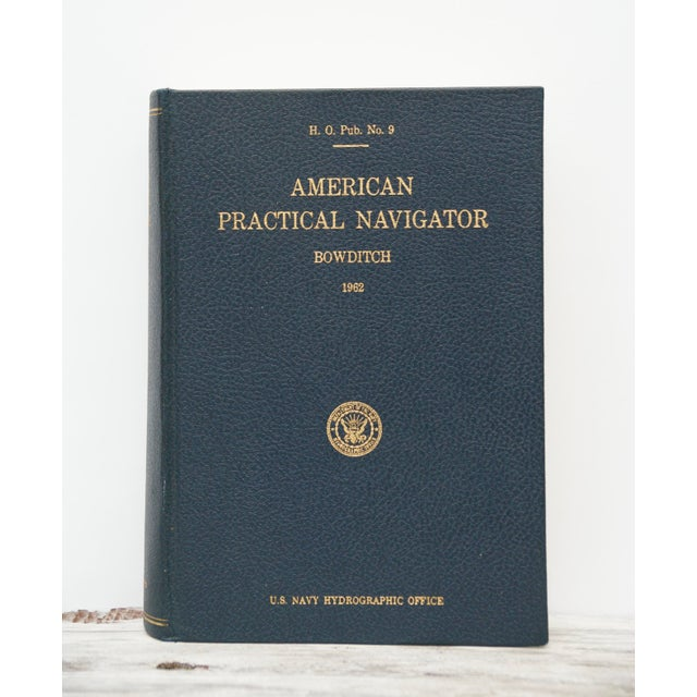 "Gorgeous vintage nautical navigation book, ""American Political Navigator."" In fantastic condition with navy pebbled..."
