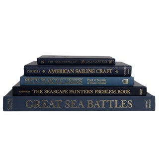 Navy Nautical Coffee Table Set For Sale