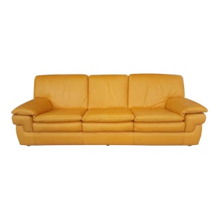 Contemporary Roche Bobois Leather 3-Seat Sofa For Sale