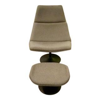 Modern Lounge Chair & Ottoman Set For Sale